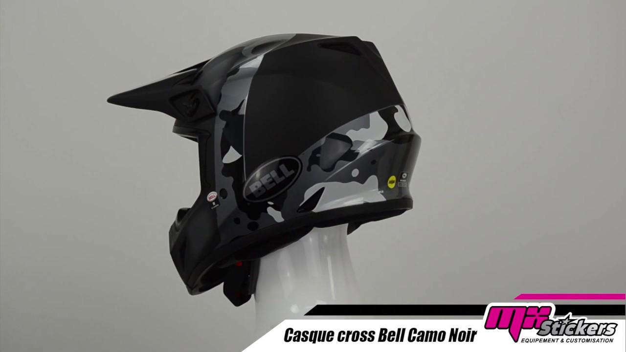 Casque Cross Bell Mx 9 Presence Noir Camo Mx Stickerscom Youtube