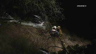 Man Rescued By Helicopter After Crashing High-End Sports Car In Beverly Crest