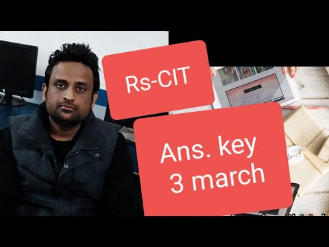 Rs-cit exam 3 march 2019 answer key   answer key rscit exam 3 march 2019 exam