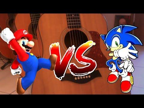 """Super Mario Bros VS Sonic The Hedgehog """"Guerra das Trilhas Sonoras no Violão"""" - Fabio Lima"""