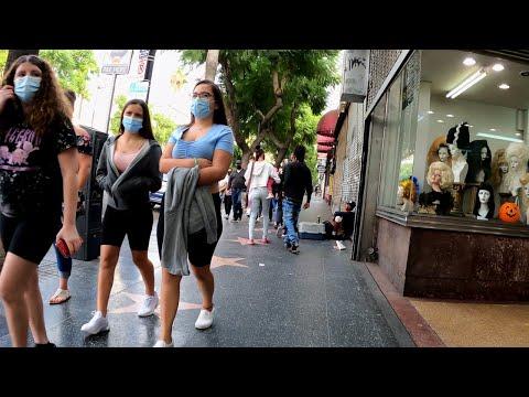 Les rues d'Hollywood au temps du coronavirus
