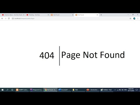 404 Page Not Found Laravel || Solved 100%