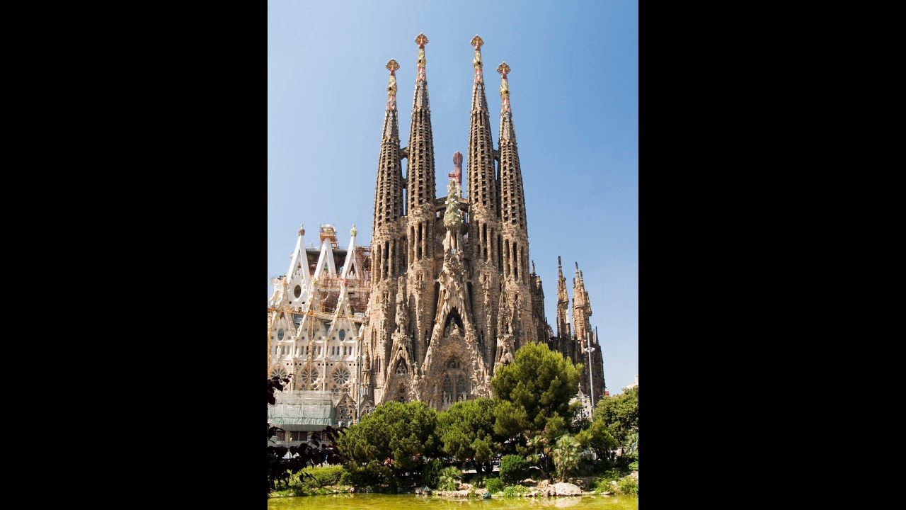 basilica de la sagrada familia en barcelona - YouTube