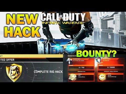 BOUNTIES & NEW COMPLETE RIG HACK - Supply Drop Opening Infinite Warfare Quartermaster