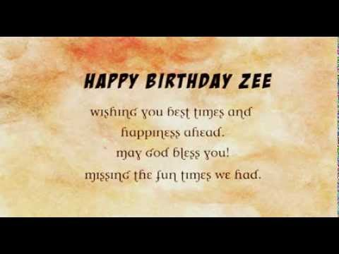 Happy Birthday Zeeshan YouTube