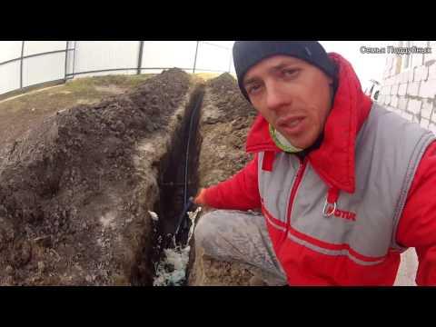 Соединение гильзы для водопроводной трубы