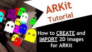 Apple ARKit! İlk AR Uygulaması olun! OLUŞTURMAK ve AR 2D görüntüleri ALMA.