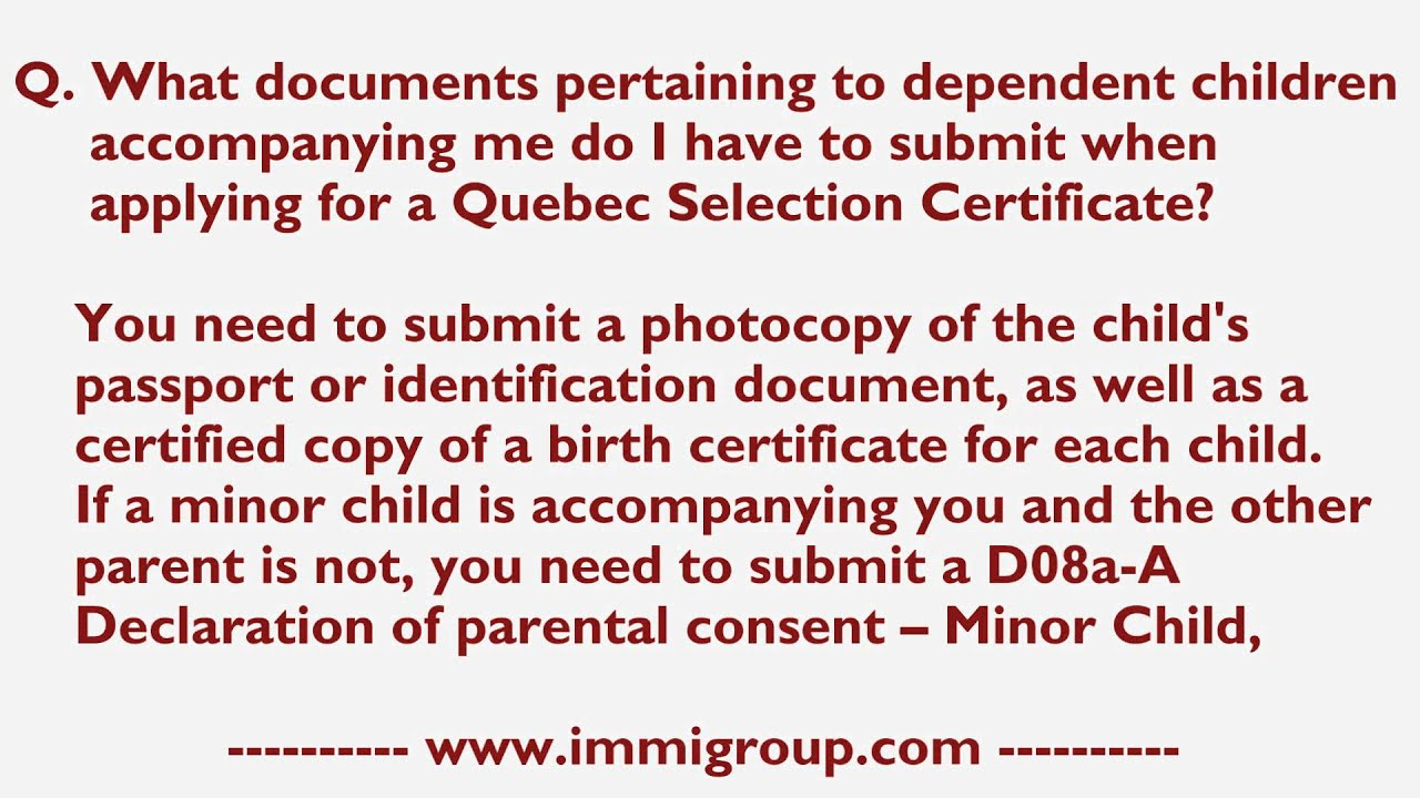 What Documents Pertaining To Dependent Children Accompanying Me Do I
