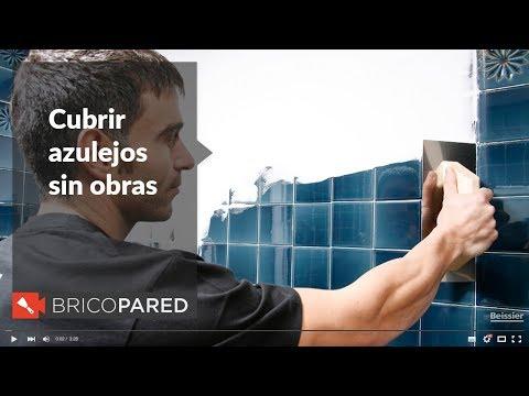Cubrir azulejos sin obras beissier bricopared youtube for Cambiar bano sin obras