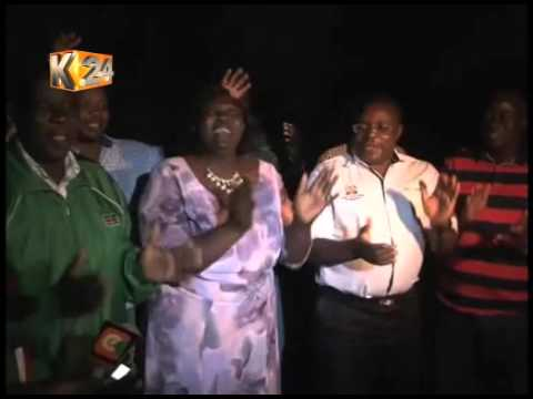 Bungoma Governor Kenneth Lusaka leads celebrations after ICC ruling