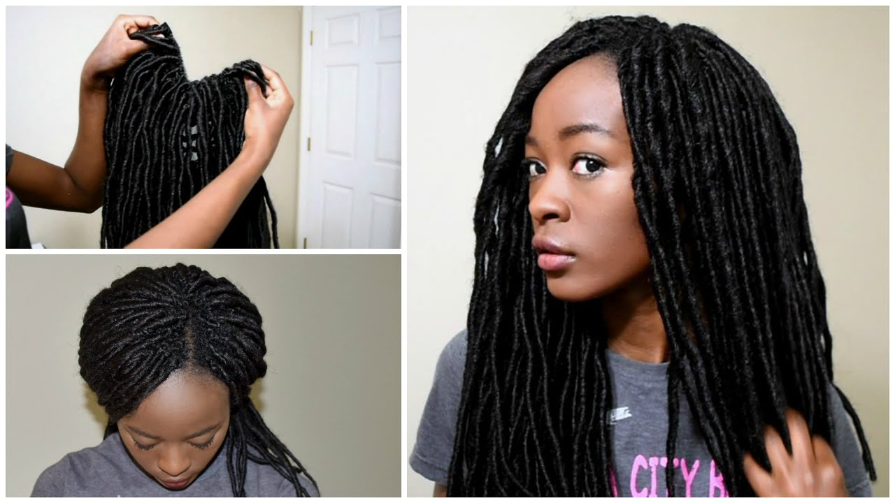 Locnation Individual Crochet Faux Locs And Loc Half Wig Tutorial You