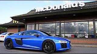 WORST McDonald's Roulette: Audi R8 V10 Plus!!