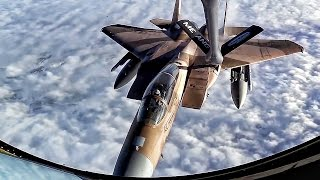 F-15 Eagles Inflight Refueling • Pilot & Boom Operator Comms