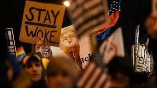 Протесты в Вашингтоне и Нью Йорке накануне инаугурации Трампа