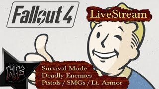Fallout 4 | Survival Mode | Deadly Enemies, Light Armor, Pistols ''n SMGs | XBox One