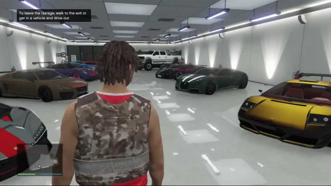 Best Gta 5 Garage Ever Gta 5 Garage Tour Youtube