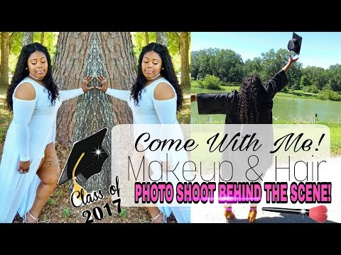 COME WITH ME: PHOTO SHOOT || DOING MAKEUP & HAIR || BEHIND THE SCENE