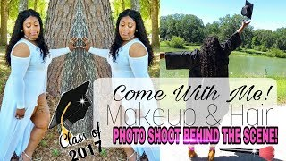 COME WITH ME: PHOTO SHOOT || DOING MAKEUP & HAIR || BEHIND THE SCENE thumbnail