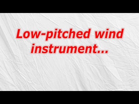 Low pitched wind instrument (CodyCross Crossword Answer)