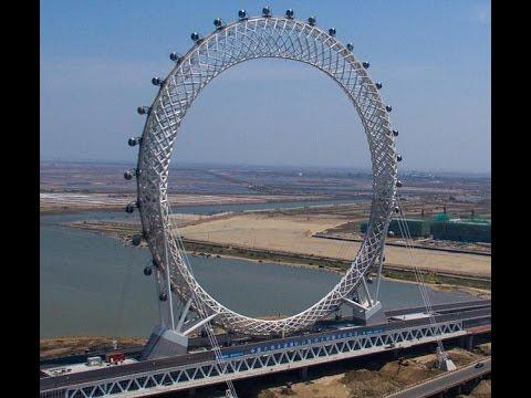 Amazing new spokeless Ferris Wheel opens in China! চীনে চালু হচ্ছে আশ্চর্যজনক নতুন spokeless চরকা !!