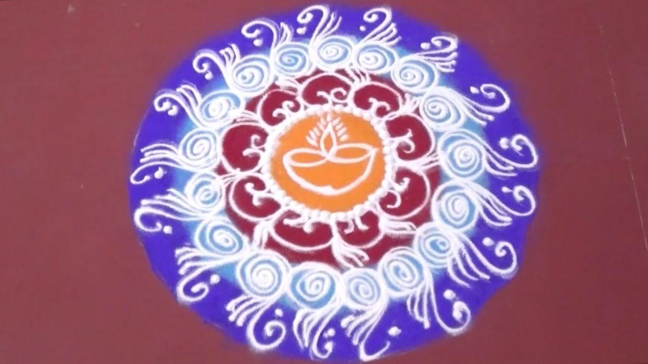 simple sanskar bharti rangoli design step by step - YouTube for Sanskar Bharati Rangoli Designs Blog  300lyp