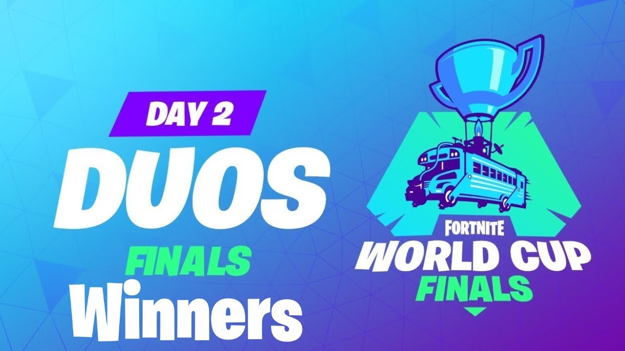FORTNITE WORLD CUP DUOS WINNERS!!!