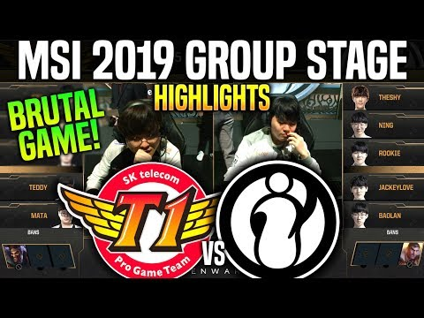 SKT vs IG Highlights *BRUTAL GAME* MSI 2019 Group Stage Day 5 - SKT T1 vs Invictus Gaming Highlights