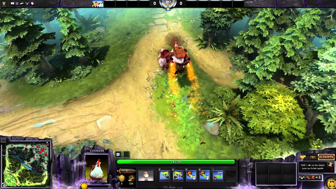 Dota 2 Unusual Cluckles The Brave (effect: Affliction Of Vermin; Colour:  Red)