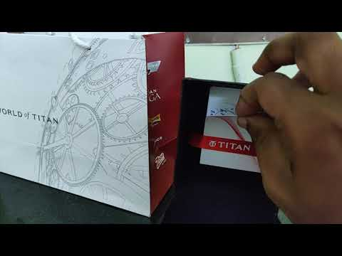 Unboxing Titan Workwear Watch With Blue Dial & Blue Leather Strap   Titan