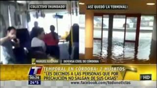 Tormenta deja dos muertos en Córdoba, Argentina (30/1/12) HD