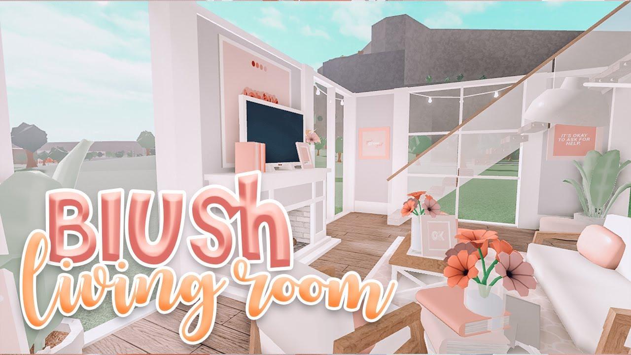 Blush Pink Modern Aesthetic Living Room Blush Aesthetic Living Room Ideas Bonnie Builds Youtube