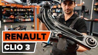 Urmăriți un ghid video despre înlocuire RENAULT CLIO III (BR0/1, CR0/1) Placute Frana