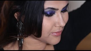 Blue Glitters Makeup | Nayon Ashiek