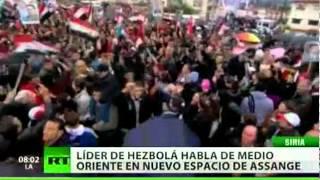 EL PRIMER PROGRAMA DE JULIAN ASSANGE DEDICADO AL LÍDER DE HEZBOLÁ