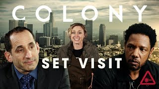 Who's the Real Star of Colony? - Nerdist Set Visit Part 1