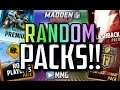 Random Packs! HUGE  Pack Opening! Madden Mobile 16