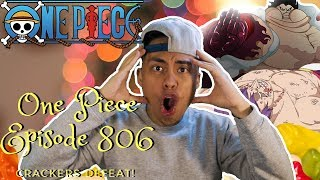 One Piece Episode 806 LIVE Reaction! NEW GEAR 4th FORM TANK MAN!!! CRACKER IS DEFEATED!