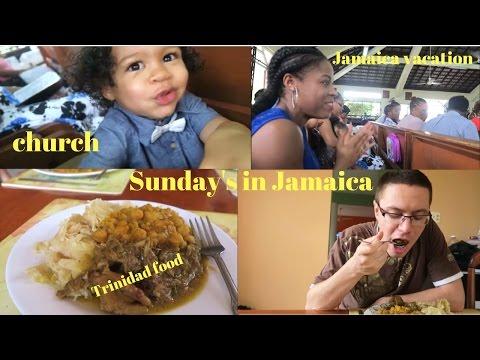 VLOG: JAMAICA VACATION || TRADITIONAL JAMAICAN SUNDAY || CHURCH IN JAMAICA || TRINIDAD FOOD