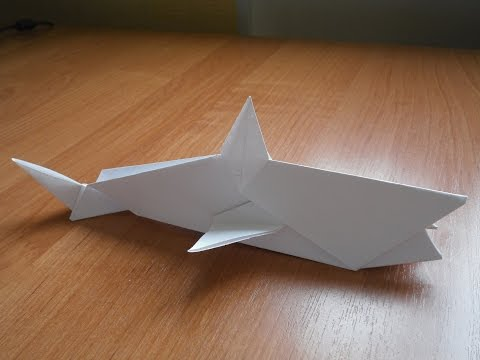Простые поделки из бумаги своими руками для детей - Акула