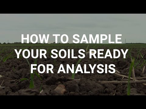 How to sample your soils ready for analysis