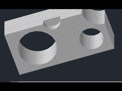 AutoCAD - Make holes in solid (Presspull Command)