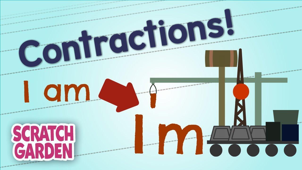 medium resolution of Contractions!   English Grammar Practice   Scratch Garden - YouTube