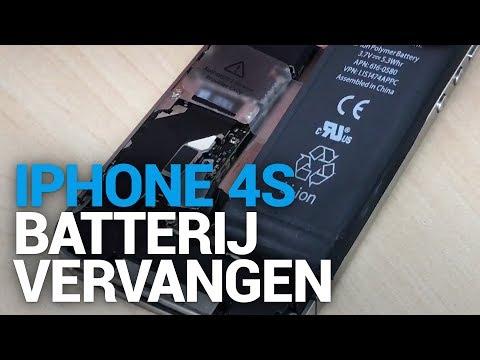 vervangen batterij iphone 4s