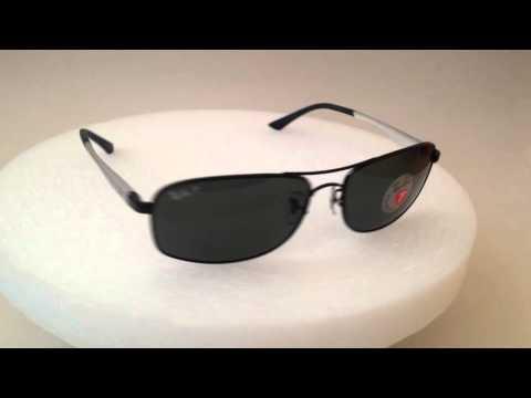 0bd05f2547 ... new zealand large polarized ray ban active flight predator aluminum  sunglasses gray black green lens rb3484