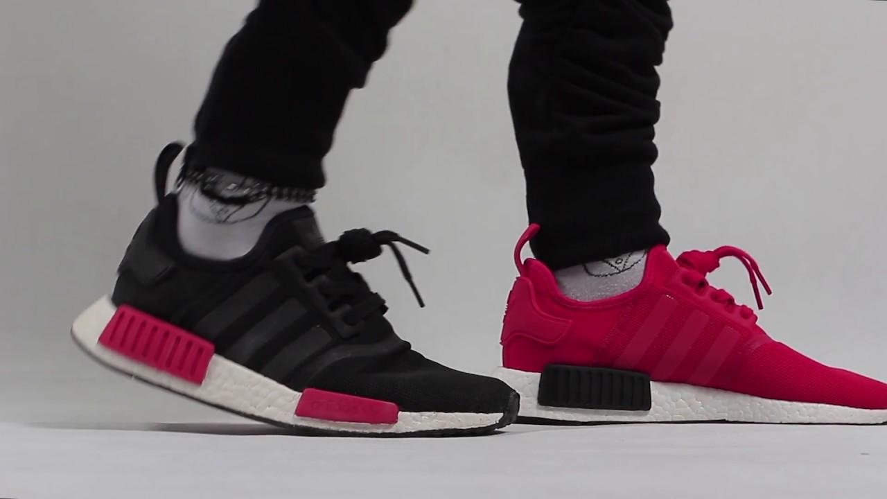 Trên chân đánh giá giày Adidas NMD R1 RED