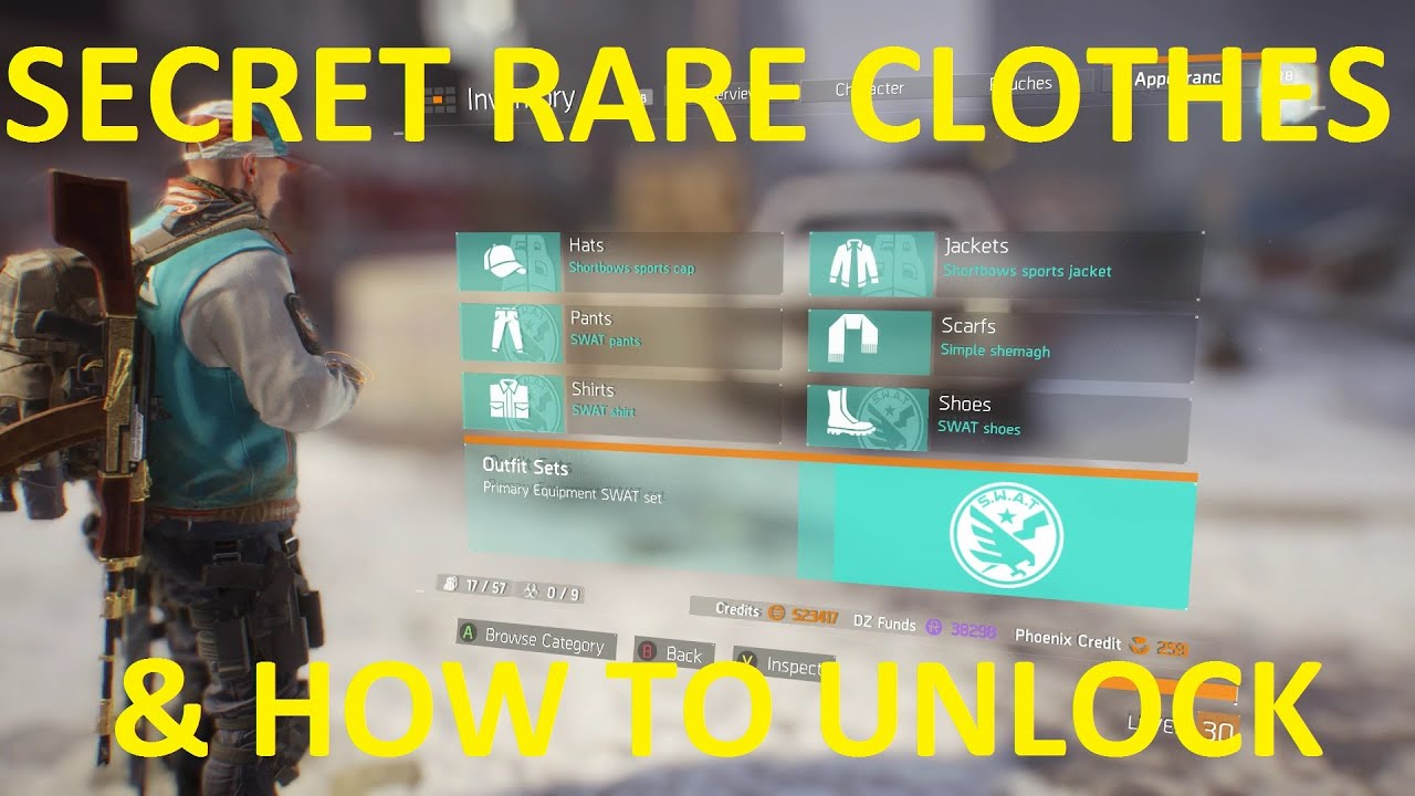 The Division: Secret Rare Clothes & How To Unlock - YouTube