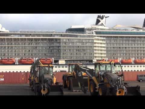 Celebrity Silhouette arrives to Ashdod port. אונית הנוסעים הכי גדולה שעוגנת בארץ!!!
