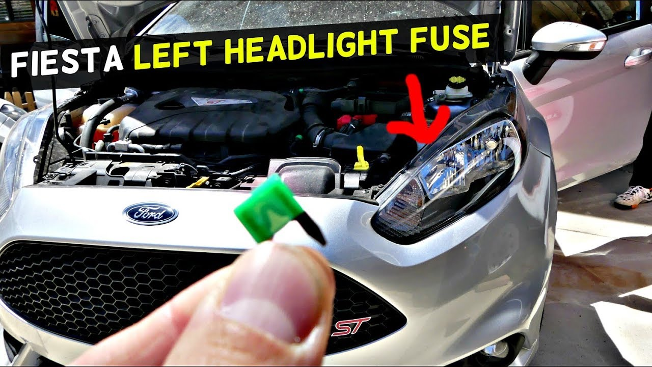 FORD FIESTA FRONT LEFT HEADLIGHT FUSE LOCATION REPLACEMENT MK7 ST