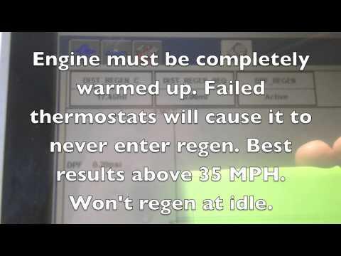 Ford 6.4 Powerstroke regen status. (Exhaust cleaning)