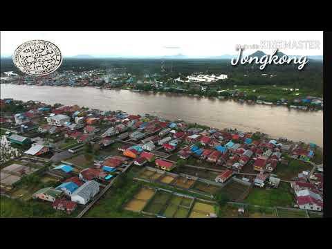 Drone View Jongkong City. Kapuas Hulu, Kalimantan Barat